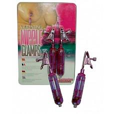 Виброклипсы для груди ( Dream toys 50471)  Виброклипсы для груди розового цвета. Степень зажима регулируется.