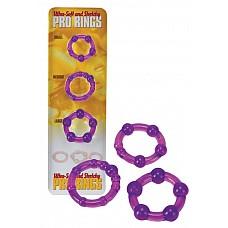 Набор стимулирующих эрекционных колец из 3 шт. (Dream toys 50640)  Набор колец для стимуляции и продления эрекции.