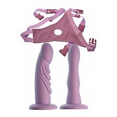 Женский страпон с 2 насадками-фаллосами (Dream toys 50675)  Женский страпон с 2 насадками-фаллосами. На трусиках, Размер регулируется.
