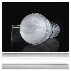 Прозрачный ротик-мастурбатор Fleshlight Ice Mouth Crystal FL901  Мастурбатор для мужчин в прозрачном кейсе и полупрозрачной белой вставкой.