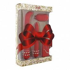 Изысканный набор Diamond Red Giftset Remote 9929TJ  Изысканный подарочный набор секс-игрушек состоит из вибратора, стимулятора точки G или простаты с загнутым наконечником, а также виброяичка с выносным пультом.