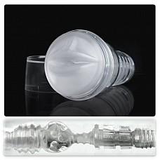 Прозрачный рот-мастурбатор Ice Jack: Ice Mouth Crystal FL905  Рот-мастурбатор для мужчин в прозрачном кейсе и полупрозрачной белой вставкой.