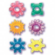 Набор из 6 эрекционных колец SENSO PAK  Набор из шести силиконовых разноцветных колец. Кольца одеваются на пенис, способствуя продлению эрекции.