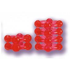 Два красных эрекционных кольца на пенис BUCKSHOT  Набор из двух силиконовых колец. Первое кольцо из 2 полос со стимулирующими шариками, а второе кольцо из 4 полосочек с 4 мягкими шариками на каждой. Можете менять кольца в зависимости от вашего сексуального настроения.