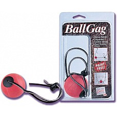 Кляп с резиновым шаром BALL GAG  Кляп с розовым шаром из высококачественной резины без использования красящих веществ и кожаного шнурка, который застегивается при помощи пластиковой клипсы-зажима.
