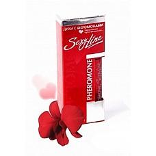 """Женские духи с феромонами с ароматом Magnifigue SexyLine   16  Название парфюма переводится как """"великолепный, славный , блестящий, прекрасный"""". Необычная древесная композиция разворвчивается пряным звучанием шафрана,смешиваясь с охапкой опьяняюще - сладких роз и пышным белым жасмином. Редчайший компонент нагармота, впервые использованный в парфюмерии, придает аромату сияющую ауру и раскошный таинственный шлейф. Начальная нота: бергамот, шафран. Ноты """"сердца"""": грасская роза, жасмин, индийский нагармота."""