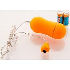 Оранжевое виброяйцо 6,5 см.  Виброяйцо 6,5см оранжевое