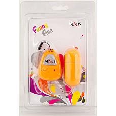 Оранжевое виброяйцо с дистанционным управлением, 7 см.  Виброяйцо с ДУ 7см оранжевое
