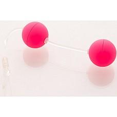Розовые вагинальные шарики  Шарики вагинальные 11см розовые