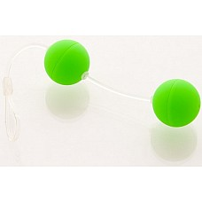 Зеленые вагинальные шарики  Шарики вагинальные 11см зеленые