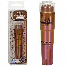 Шоколадный вибростимулятор для эрогенных зон  CHOCOLATES 0951-03 BX DJ  Компактный вибростимулятор с глянцевым покрытием шоколадного цвета для сосков, клитора и других эрогенных зон из пластика.
