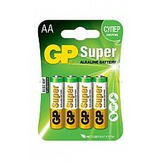 Батарейка АА (алкалин) в блистере по 4 шт.  Батарейки типа АА SUPER ALKALINE - цилиндрические и призматические элементы и батареи марганцево-цинковой системы с щелочным электролитом.