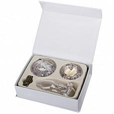 """Прозрачный мужской набор верности с насадками (стандартный Размер) EF-CB3000-WHT  Данная игрушка является мужским аналогом женского """"пояса верности"""" с глубиной клетки для пениса 8 см."""