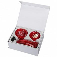 """Мужской набор верности красного цвета с насадками (большой Размер) EF-CB4000-RED  Данная игрушка является мужским аналогом женского """"пояса верности""""."""
