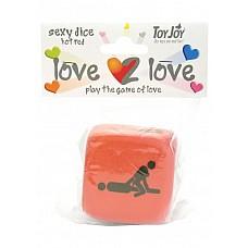 Кубики для игр LOVE2LOVE SEXY DICE RED 9761TJ  Описание: кубики для игр Love2Love Sexy Dice Red 9761TJ Разнообразить Ваши скучные вечера поможет кубик для секс-игр 9761TJ.