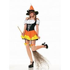 Костюм ведьмочки, S  Веселый костюм ведьмочки.