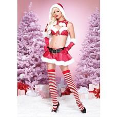 "Костюм ""Миссис Санта Клаус"", S  Элегантный костюм ""Санта Клаус"" из красного бархата."