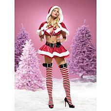 "Костюм ""Миссис Санта Клаус"", L,   Элегантный костюм ""Санта Клаус"" из красного бархата."