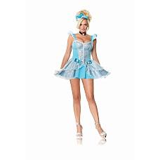 Костюм сказочной принцессы, M,   Костюм сказочной принцессы: кружевное платье, украшение на шею и повязка на голову.