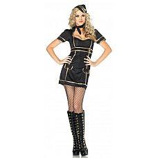 Игровой костюм Знойная стюардесса, M  Костюм для Хеллоуина, маскарада или любовной игры.
