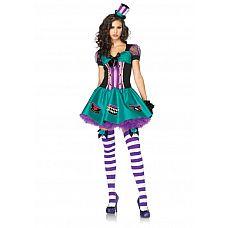 Игровой костюм Безумная шляпница из Страны чудес, XS  Очаровательный комплект для мечтательниц и кокеток.
