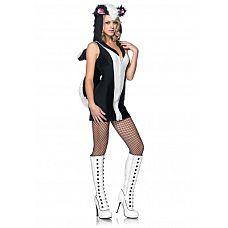 Игровой костюм Очаровательный скунс, M/L,   Очаровательный костюмчик превратит вас в игривого скунса.