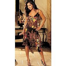 Удлиненное платье с узорами