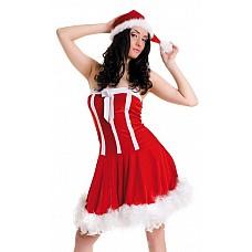 Новогоднее платье и шапочка  Новогоднее платье и шапочка