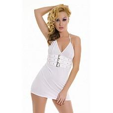 Белое платье с замочками  Белое платье с замочками