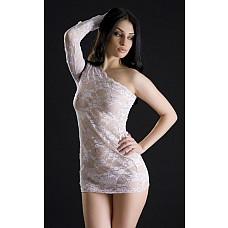 Белое кружевное платье и трусики-стринг  Белое кружевное платье и трусики-стринг