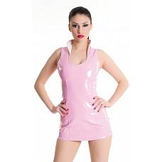 Розовое платье с воротником  Розовое платье с воротником