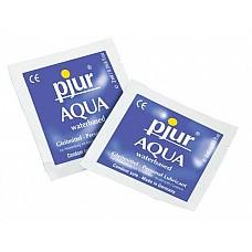 Увлажняющий лубрикант Pjur AQUA, 2 ml  Этого пробника вам хватит для того, чтобы понять, каким комфортным может быть секс. Лубрикант Pjur® AQUA на водной основе обеспечивает роскошное скольжение, увлажняет кожу, препятствует возникновению микротрещин. <br><br> Смазка идеально подходит для эротического массажа, поскольку не оставляет чувства липкости после использования. Нескольких капелек более чем достаточно для смазки половых органов перед соитием. <br><br> Среди ингредиентов лубриканта нет нефтепродуктов, масел, жиров, парфюмерных добавок. Безопасен для здоровья.