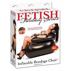 Надувное кресло для бондажа 210400PD  Надувное кресло , черного цвета,  которое состоит из 6ти липучих ограничений.