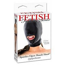 Маска на лицо с открытым ртом 385502PD  Маска из эластичной ткани, черного цвета с отверстием для рта.