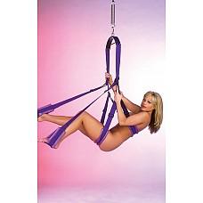 Фиолетовые секс-качели  Серия Fetish Fantasy Love Swing является идеальным инструментом для пар, желающих поэкспериментировать с разными позициями, или чье желание получить улетное удовольствие от секса в невесомости. Качели полностью регулируются по целому ряду позиций,подстраиваются индивидуально под Вас!
