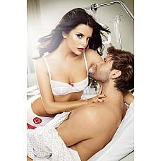 """Игровой костюм """"Шаловливая медсестра"""": топ, трусики и мини-юбка.  Шаловливая медсестра будет с Вами неотлучно."""