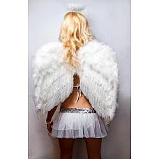 Крылья перьевые белые 60*50см 02315  Зачастую карнавальные костюмы предполагают использование отдельно продающихся элементов.