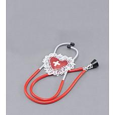 """Стетоскоп красный 02510OS  """"Хотите поиграть в доктора или в сексуальную медсестру? Тогда красный стетоскоп идеально подойдет для этого."""
