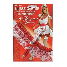 """Подвязка медсестры со шприцом белый 02328OS  """"Ажурная повязка для сексуальной медсестры."""