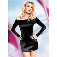 Миниплатье TYLER с открытыми плечами и длинными рукавами  Миниплатье TYLER с открытыми плечами и длинными рукавами