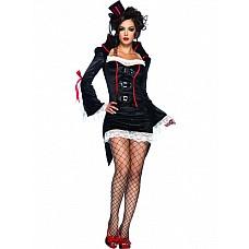 Костюм Вампирша черный 02135SM  Для карнавала, устроенного на Новый год, купить сегодня можно практически любые костюмы.