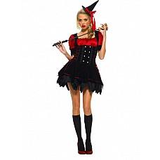 Костюм Озорная ведьмочка 02142SM  Нечистая сила может быть очаровательной № это доказывает представленный здесь костюм ведьмочки.