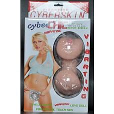 Надувная кукла CYBER CHIC с вибратором и вставками вагина-анус  Надувная кукла CYBER CHIC с вибратором и реалистичными вставками вагина-анус