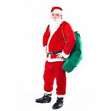 """Костюм """"Санта Люкс"""" красный 48-52 02460  Планируя празднование Нового года, костюм Санты купить следует хотя бы потому, что он может стать дополнительным развлекающим моментом."""