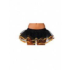 Подъюбник черный с желтой  тесьмой 02360OS  <br>Производитель: <b>Le Frivole Costumes</b><br/>