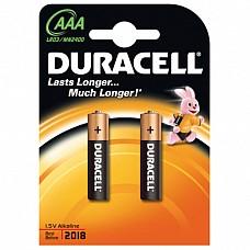 Батарейки AAА Duracel New LR03 2 шт  Мизиньчиковые батарейки типа ААА DURACELL алкалиновые.