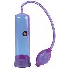 Фиолетовая вакуумная помпа E-Z Pump  Эта фиолетовая помпа способна подарить вашему члену твёрдость, а вам – порцию удовольствия! <br><br> И для этого надо лишь преодолеть препятствие в виде уплотнителя, полностью погрузить пенис в колбу и начать откачивать воздух при помощи груши. <br><br> В условиях вакуума кровь быстро прильёт к предмету вашей гордости, усилив сексуальное напряжение до максимума.