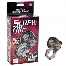 Кольцо Screw Me The Big Socket Ring 1475-40BXSE  Эрекционное кольцо с петлей для мошонки.