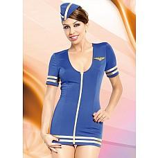 Игровой костюм Стюардессы  Эта женщина знает всё о полётах и небесах. Мало того, готова показать вам, как можно оказаться высоко над землёй, не покидая стен спальни. <br><br> Очаровательная стюардесса – чуть скромная, очень услужливая и настоящая экстрeмалка – откроет вам мир сексуальных наслаждений невероятной силы. <br><br> Вознестись на вершину удовольствия? С ней это будет легко, поверьте!