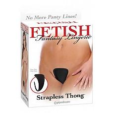 Си-стринги Strapless Thong черные, OS  Трусики-стринг без бретелек, не оставляют следов на теле.